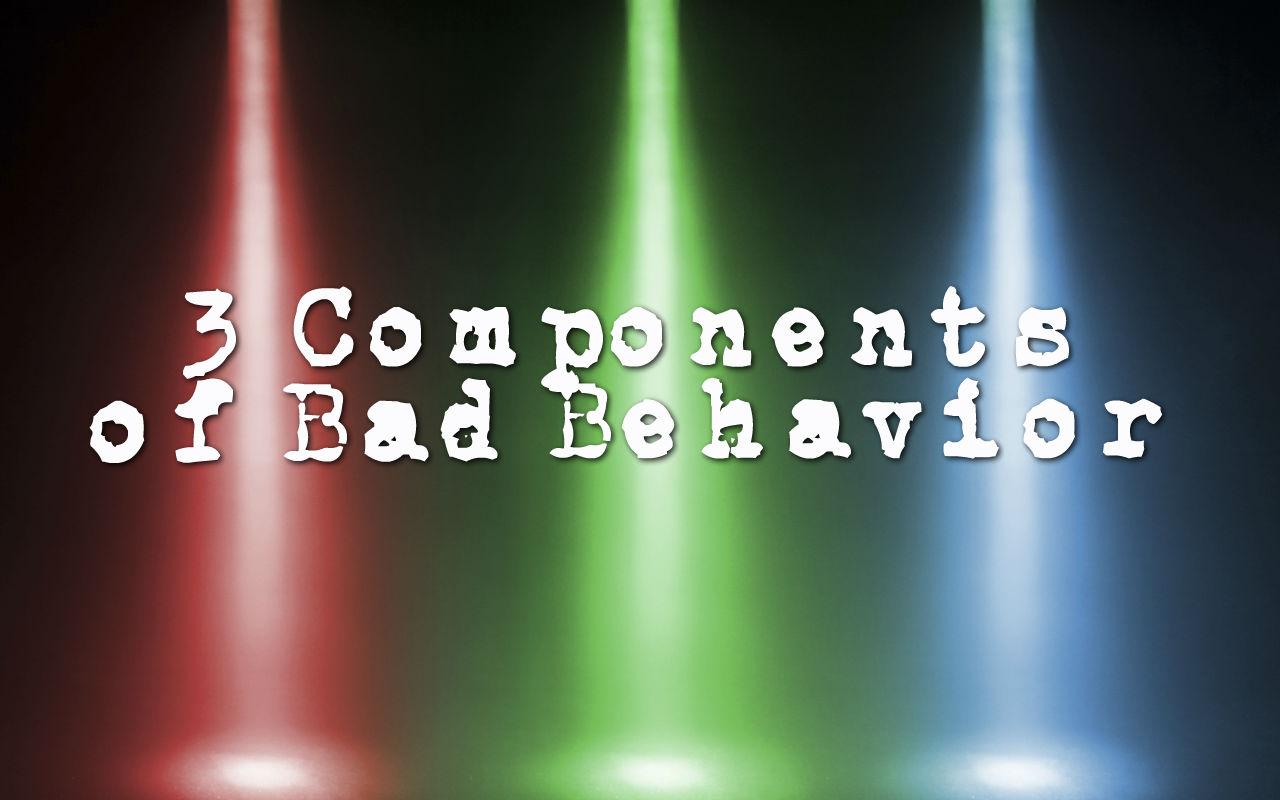 3 Components of Bad Behavior