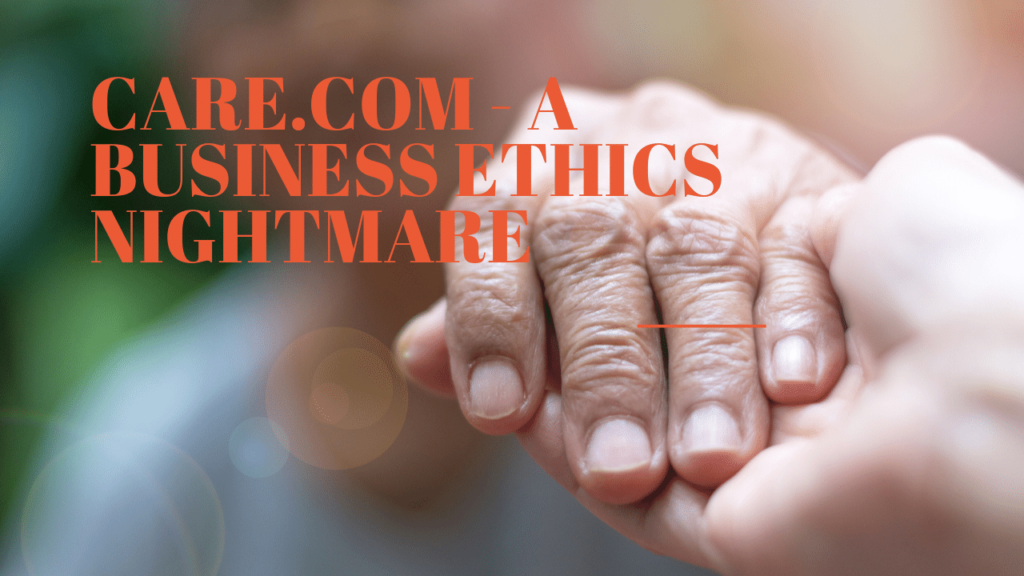 A Business Ethics Nightmare