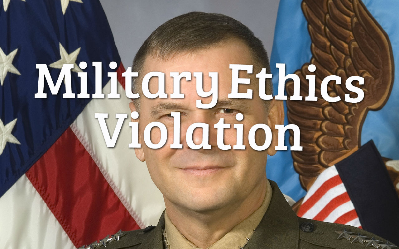 Military Ethics General Leaks Top Secret Information To