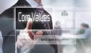Business Ethics Core Values Concept